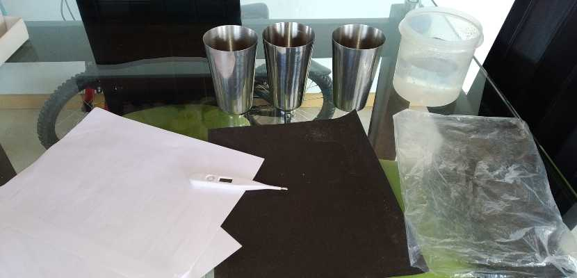 materiales experimento solar